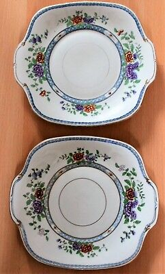 A Pair of Early C20th Crown Staffordshire Cake Plates A8144 F&C Osler (Retailer)