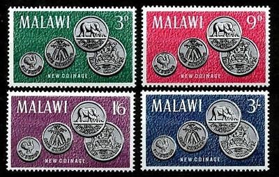 REPUBLIC OF MALAWI -1965- New Coinage - MNH Set/4 Stamps- Sc.#22-25