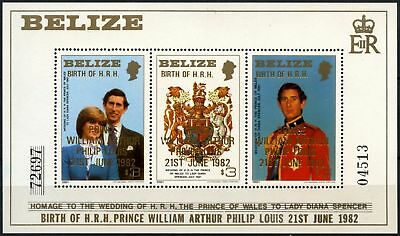 Belize 1982 SG#MS720 Royal Baby Birth William MNH M/S #D73650