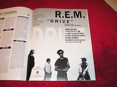REM - 1992 US Full-Page Glossy Ad 'Drive ' Single Release (Album Network)