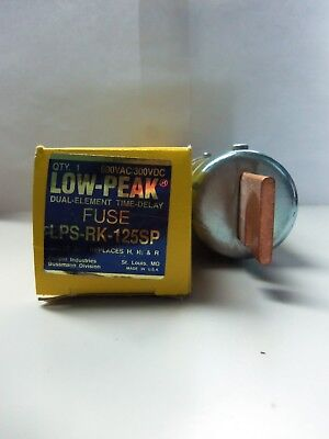 New Bussmann LPS-RK-125SP 125 Amp Fuse Low Peak Class RK 600V NIB