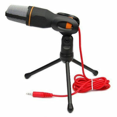 Professional Condenser Sound Podcast Studio Microphone with Stand for PC Laptop