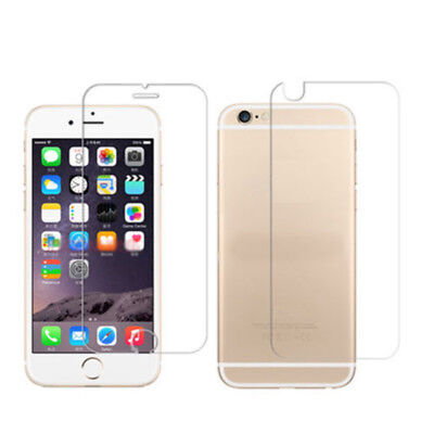 For Apple iPhone X 8 Plus 7 6 6s 5 Front + Back Tempered Glass Protective Film