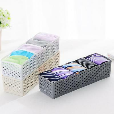 5Cells Plastic Organizer Storage Box Tie Bra Socks Drawer Cosmetic Divider US LP