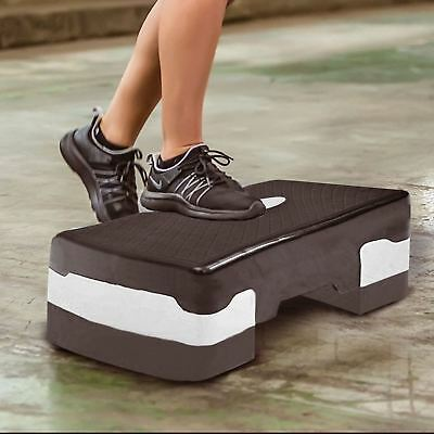 Yoga Training Exercise Aerobic Stepper Workout Gym Step Up Board 10,15cm Levels