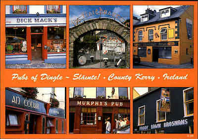 Multi-View Postcard IRELAND Irland Pubs Kerry County in Dingle Kneipe Kneipen