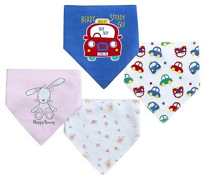 Cute Babies Bandana Dribble Bibs Multi Pack Baby Girls Boys Cotton 2 Pack Gift