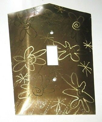 Vintage Handmade Solid Brass Electric Single Light Switch Wall Plate Cover USA