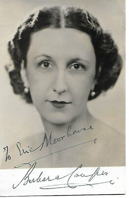 BARBARA COUPER (1903-1992) The Lady With The Lamp, Goodbye, Mr Chips  Signed pic