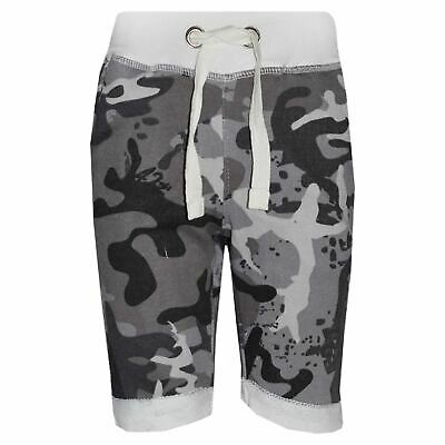 Boys Shorts Kids Fleece Camouflage Chino Short Knee Length Half Pant Age 3-13 Yr