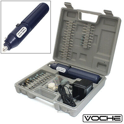 Voche® Cordless Rechargeable Mini Rotary Drill Hobby Tool 100 Accessories + Case
