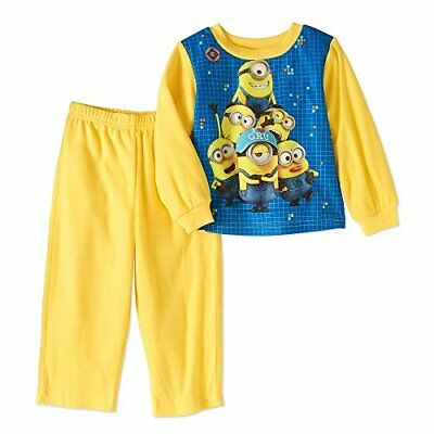 42fb75e5f AME DESPICABLE ME Boys Minion Union Hooded Footless Sleeper Pajamas ...