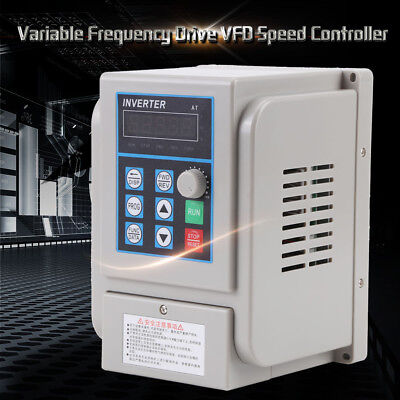Variable Frequency Drive Inverter VFD Controller 1.5KW 220V 3-phase Motor