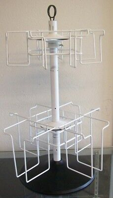 "Store Display Fixtures 23"" TALL COUNTER TOP 2 LEVEL LITERATURE SPINNER RACK"