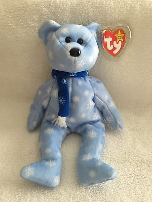 Ty Beanie Baby 1999 Holiday Teddy W/rare Flat Tush Tag - Mint With Tag Protector