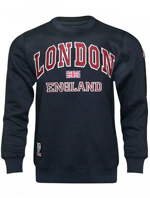 16sixty Mens Green London England Embroidered Casual Pullover Hooded Sweatshirt