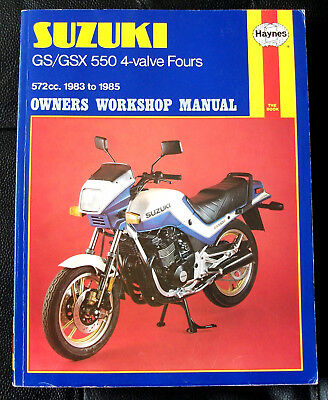 suzuki gsx550 gs550 four 1983 85 haynes workshop manual gsx 550 esd rh picclick co uk Service Mobil Suzuki Service Mobil Suzuki