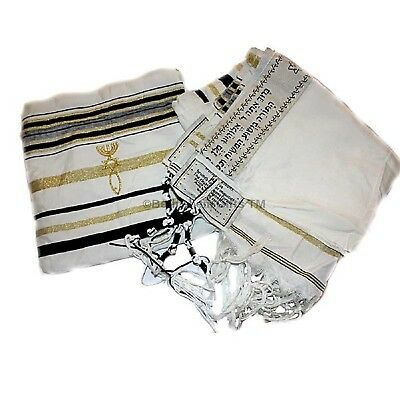 New Covenant Prayer Shawl Tallit English/hebrew with Matching Case. 72 X 22