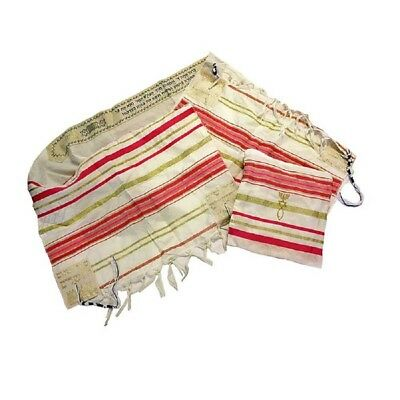 New Covenant Prayer Shawl, English / Hebrew & Bag (Israel) Holy Land (Pink)