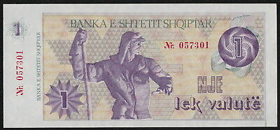 P#48A Banknote of 1992 UNC Albania 1 Lek Valute Paper Money