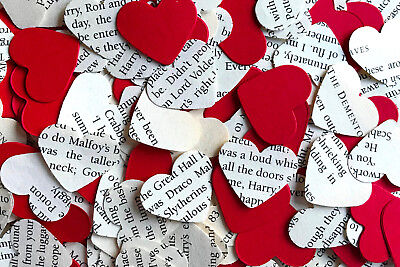 Heart Wedding Table Top Confetti/Decoration-Harry Potter & Red Paper-Gryffindor