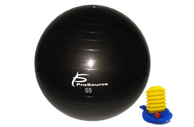 ProSource Exercise Stability Ball w Air Pump Anti Burst Yoga Workout 55 65 75 cm