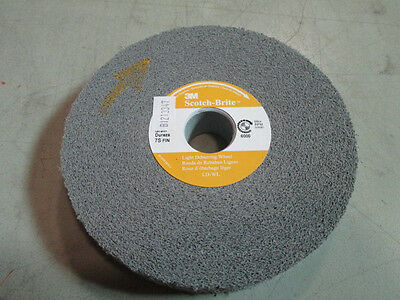 3M Scotchbrite 6X1X1 Light Deburring Wheel 7S Fine 01661 New Unused