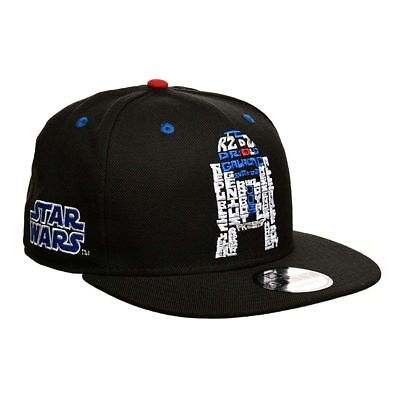 big sale 72a41 096d2 New Era R2D2 Word Snapback Cap 9fifty Special Limited Edition Star Wars  BLACK