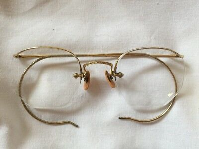 Rare Vintage Gold Semi Rimless BAO GF?  Glasses Spectacle  Frames Retro