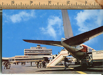 Vintage Color postcard San Francisco International AIrport 707 airplane Roberts