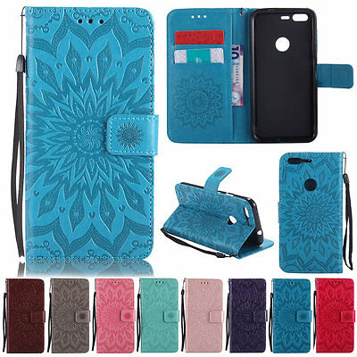 NEW Sunflowers Card Wallet Soft Leather Stand  Flip Case SKIN Cover