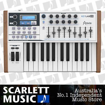 Arturia KeyLab 25 Note Controller Synthesizer Keyboard *OPEN BOX DEMO STOCK*