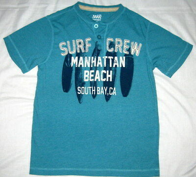 Boys Old Navy Blue Surfboards Shirt Short Sleeve Size Lg (10-12) Never Worn!