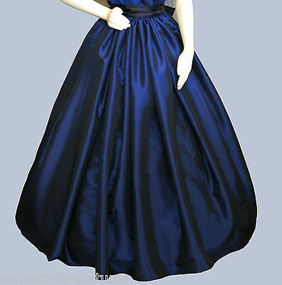 Ladies Victorian  American Civil War SKIRT costume fancy dress sizes 6-34 blue