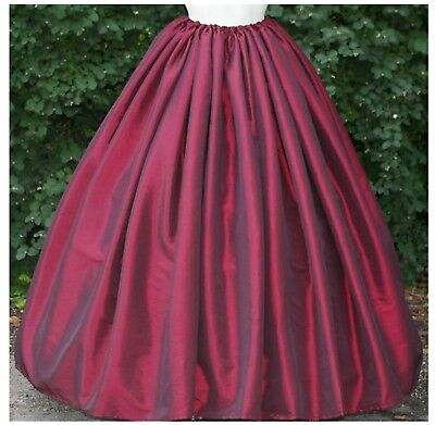 Ladies Victorian  American Civil War SKIRT costume fancy dress sizes 6-34 wine