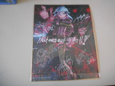FAN Merch Sword Art Online SAO II Poster (DinA 3) KADOKAWA multiple signatures