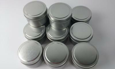 NEW   12 Candle Silver Tins With Lids 120 grams x 12 Tins