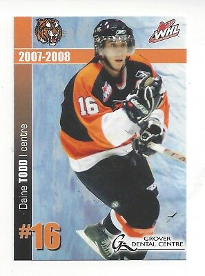 2007-08 Medicine Hat Tigers (WHL) Daine Todd (Iserlohn Roosters)