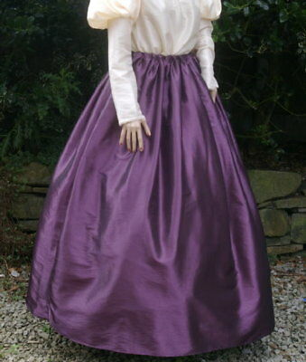 Ladies Victorian / Edwardian costume SKIRT gentry / ball gown fancy dress (aube)