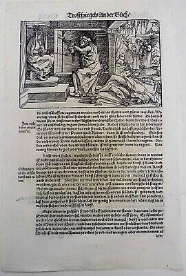 1532 Hans Weiditz woodcut leaf - Beheading before the Queen Execution Torture