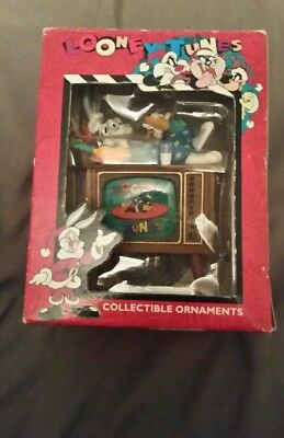 Matrix Looney Tunes Bugs Bunny on Television 1996 TV Christmas Ornament
