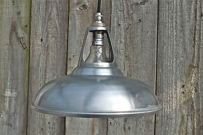 Vintage white zinc coolicon ceiling light vented hanging lamp shade WZSR4