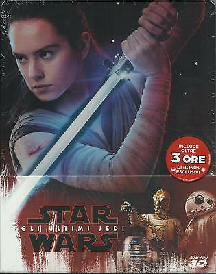 Star Wars. Gli ultimi Jedi 3D (2017) s.e. 3 Blu Ray metal box