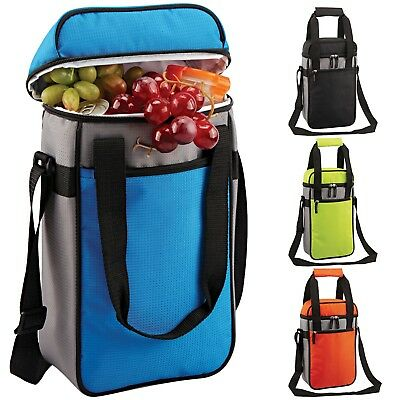 GEEZY Large Insulated Bottle Drinks Cool Bag Zip Up Ice Wine Cooler Carrier