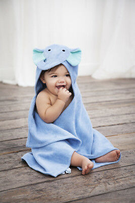 Baby Hooded Towel Blue Elephant 3d design Super Soft gift
