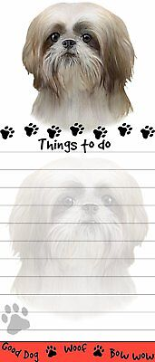 Tan Shih Tzu Puppy Magnetic Sticky Note Pad