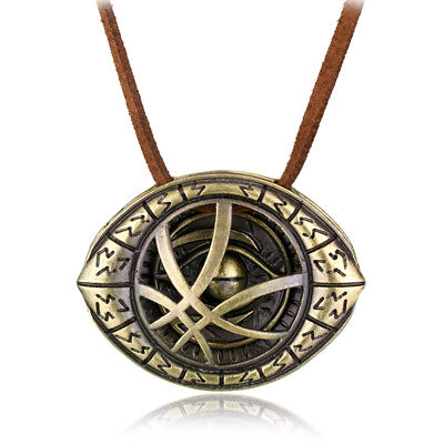 Dr. Doctor Strange Pendant Eye of Agamotto Chain Cosplay Necklace Marvel Movie