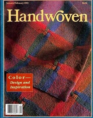 Handwoven magazine jan/feb 1993: NAPKINS BLANKETS TOWELS SCARVES