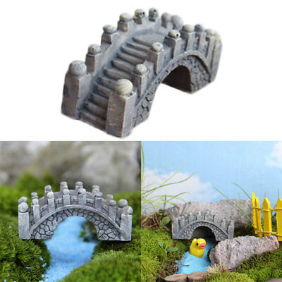 2Pcs Mini Bridge Miniature Fairy Craft Garden Fish Tank DIY Dollhouse Decor Hot
