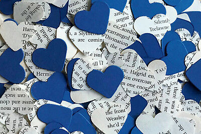 Heart Wedding Table Top Confetti/Decoration-Harry Potter & Blue Paper-Ravenclaw